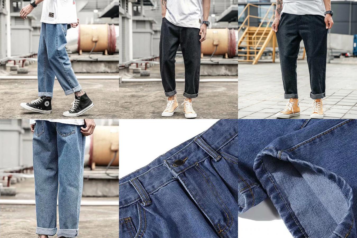 Широкие джинсы в стиле хип-хоп