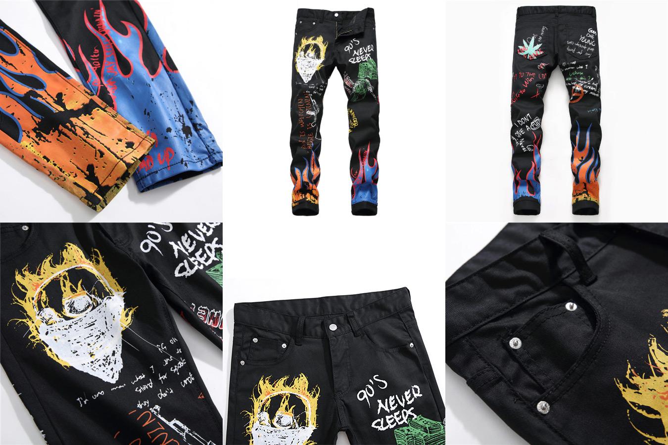 Мужские джинсы с принтом