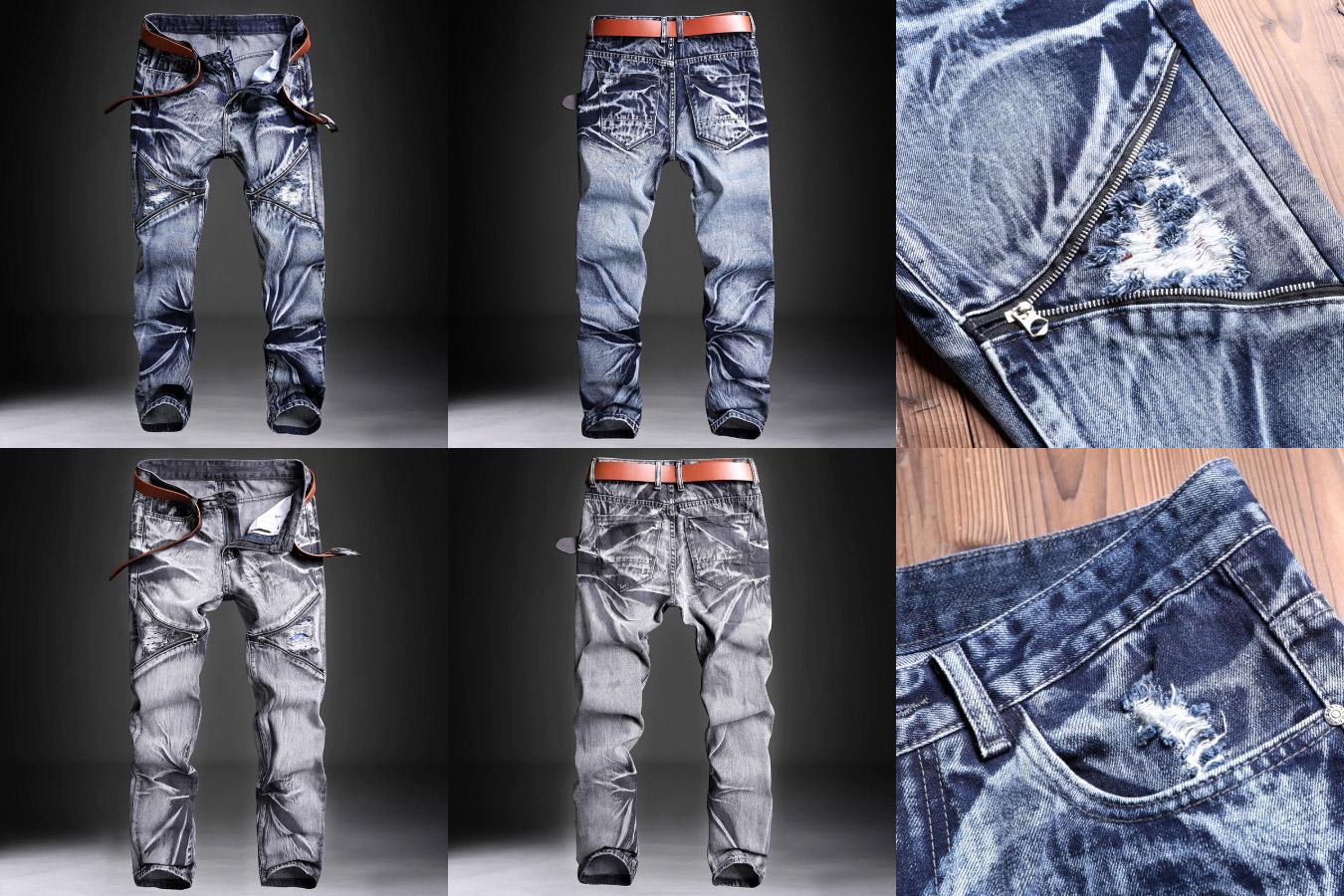 Дизайнерские джинсовые штаны