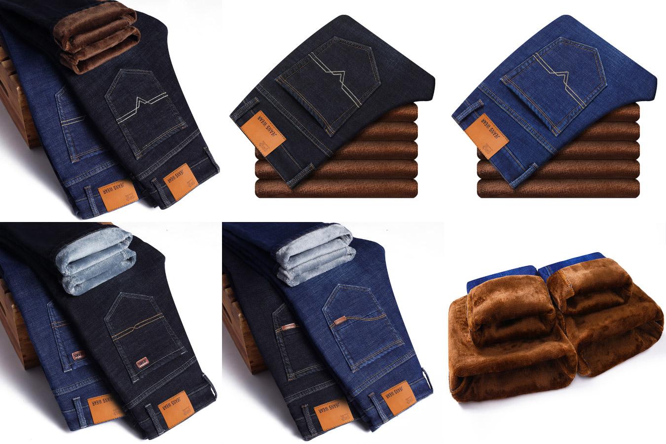 Теплые мужские джинсы