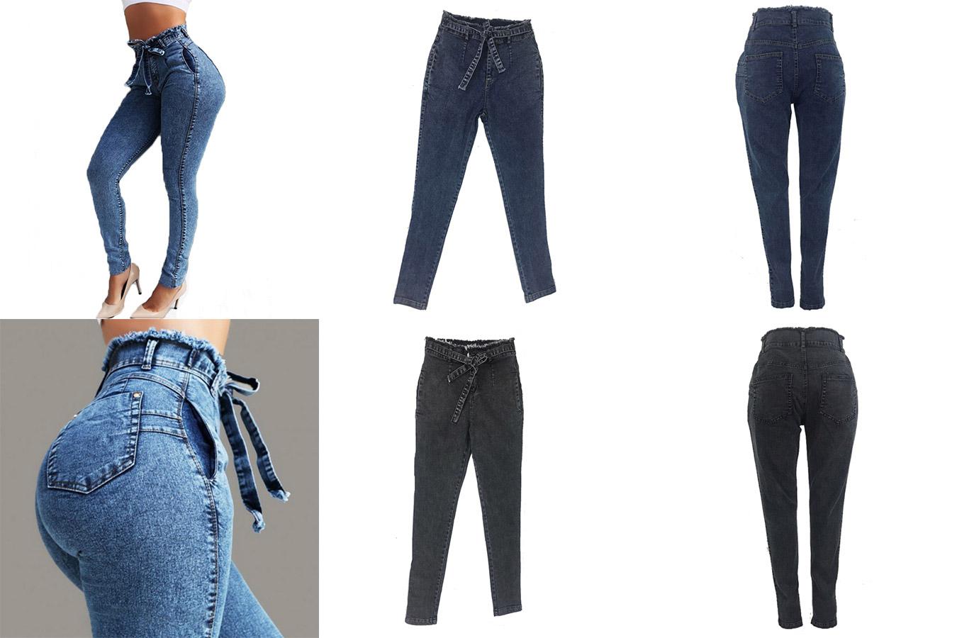 Стильные джинсы с завязками вместо ремня