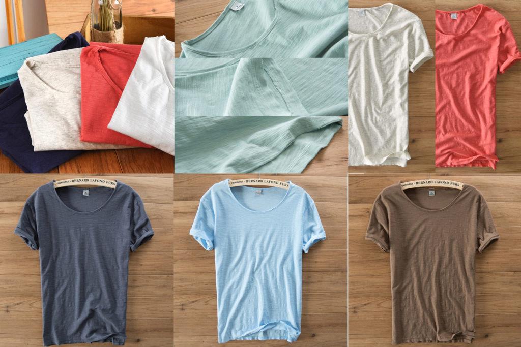 Легкая футболка из льна