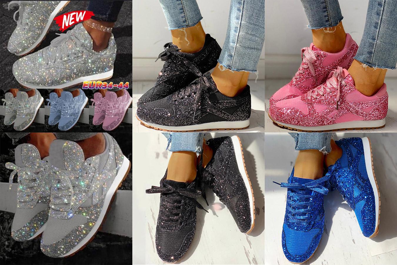 Блестящие кроссовки с алиэкспресс