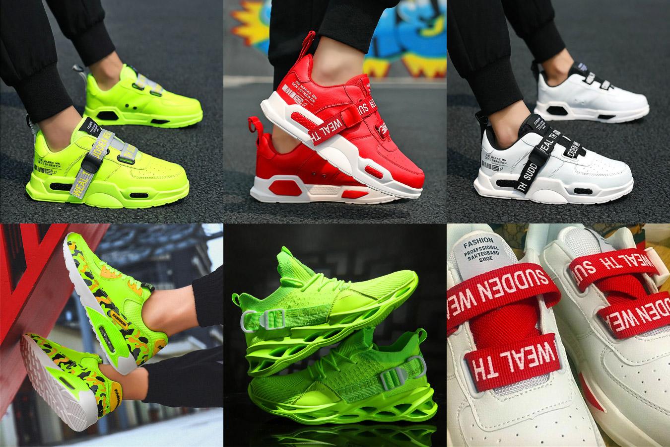 Яркие кроссовки для активного отдыха
