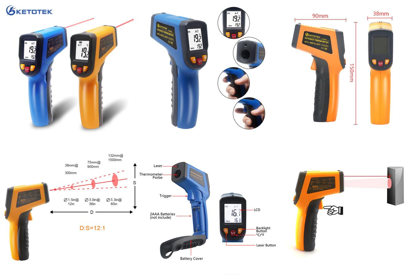 Ручной бесконтактный термометр