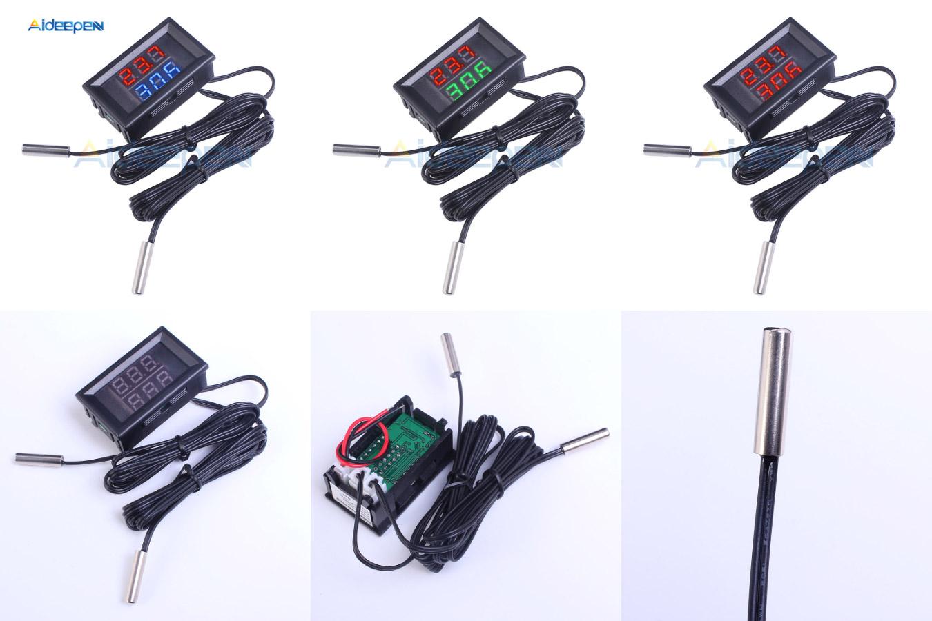 Водонепроницаемый термометр с двумя дисплеями