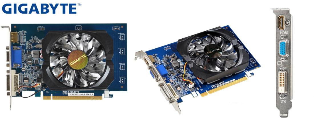 Недорогая видеокарта Gigabyte GeForce GT 730