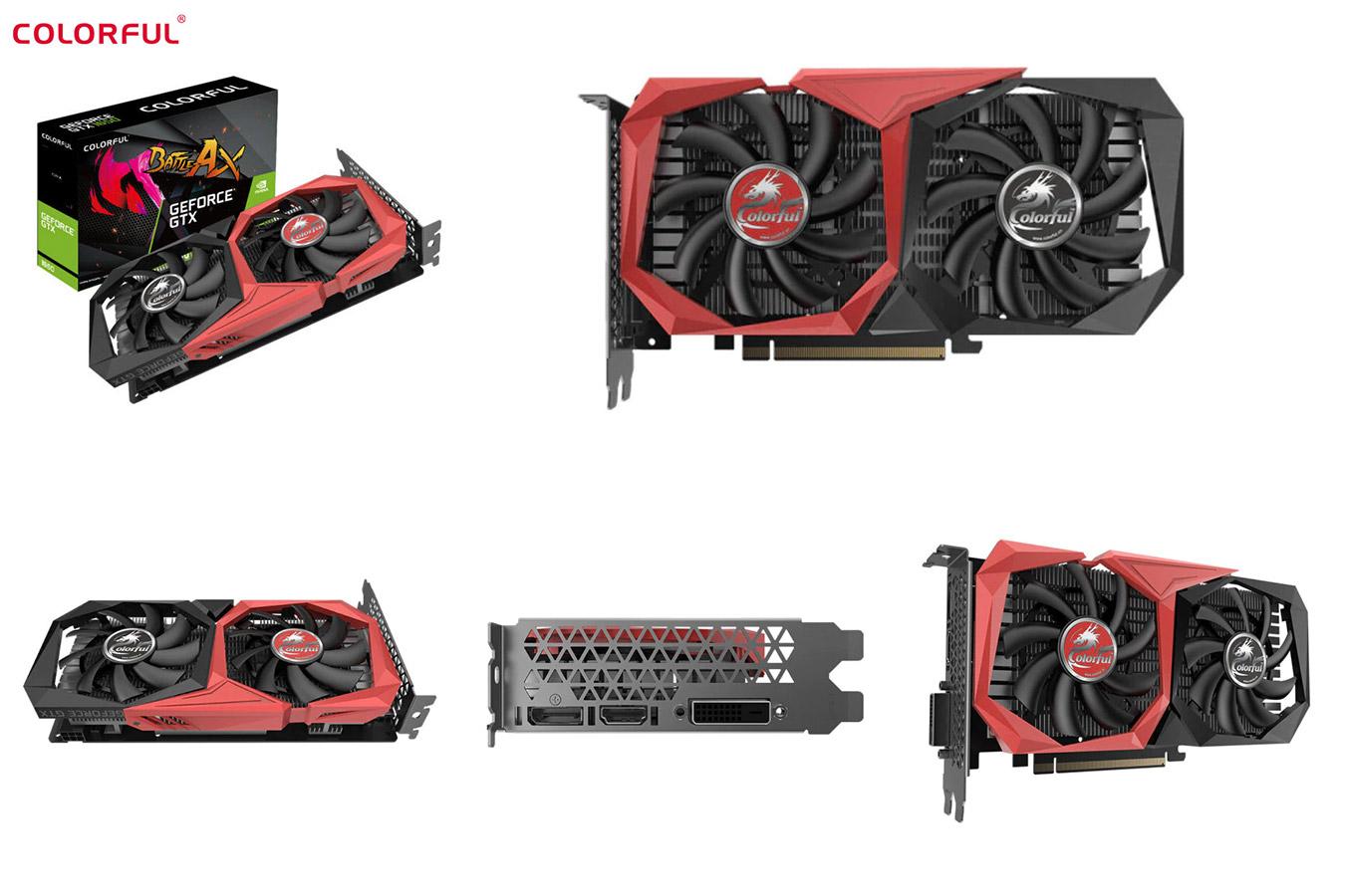 Игровая видеокарта с алиэкспресс GeForce GTX1650
