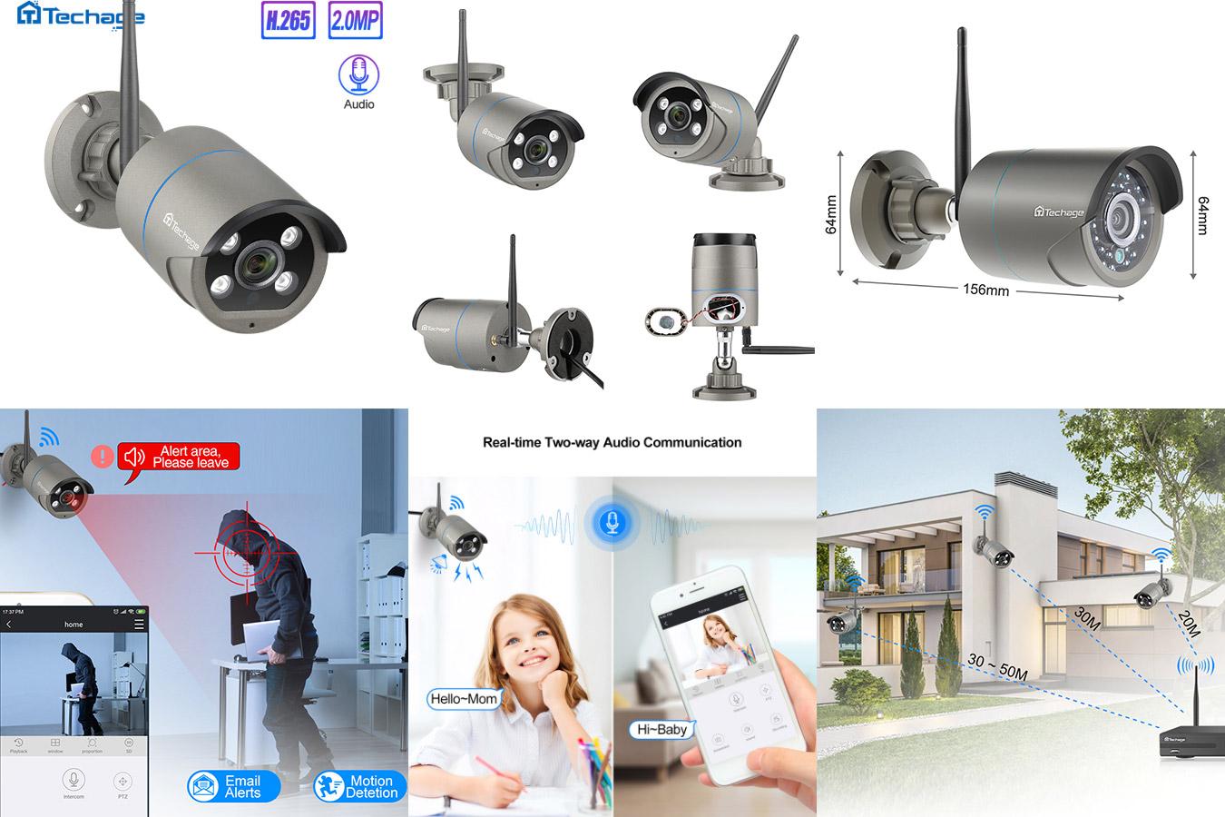 Беспроводная ip-камера Techage