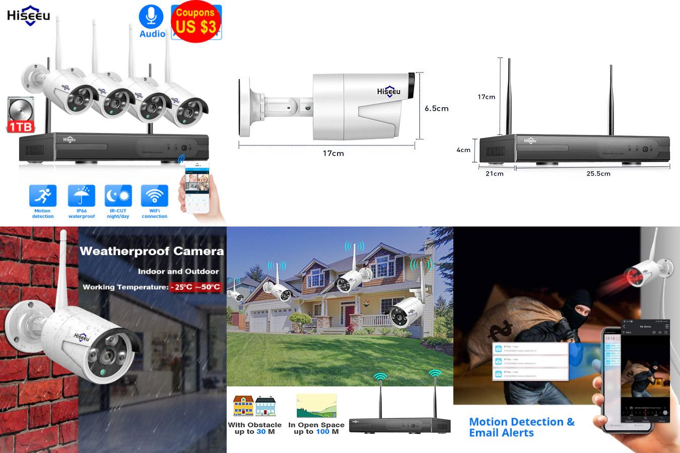 Система видеонаблюдения Hiseeu