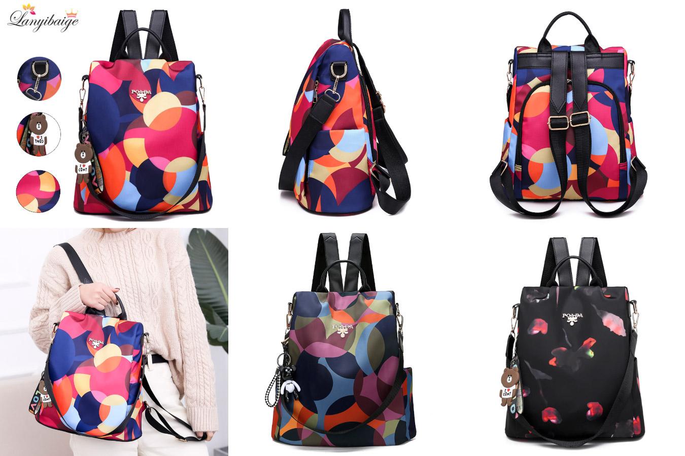 Компактная сумка в цветном дизайне