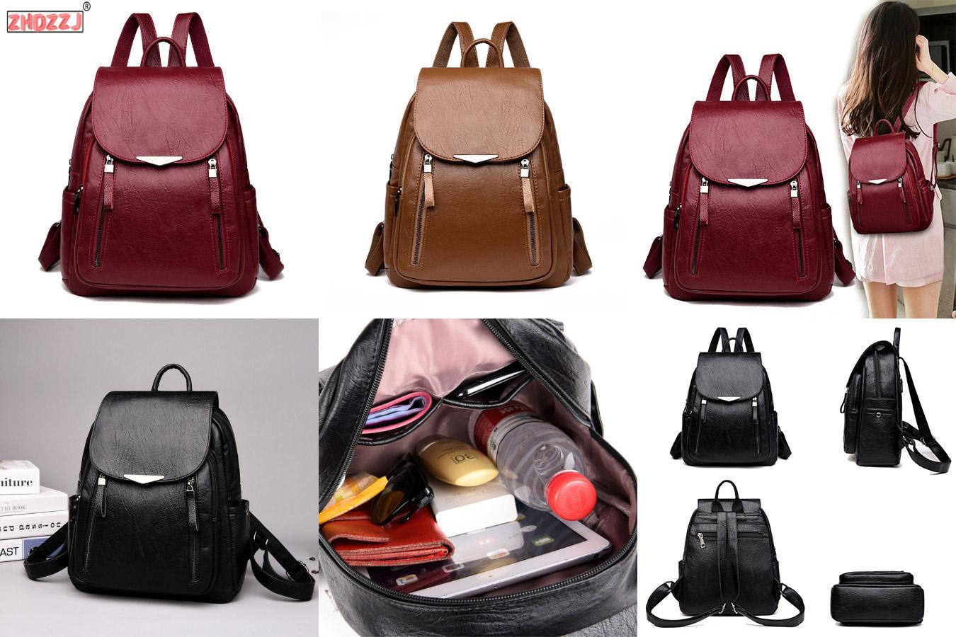 Однотонная сумка-рюкзак в лаконичном стиле