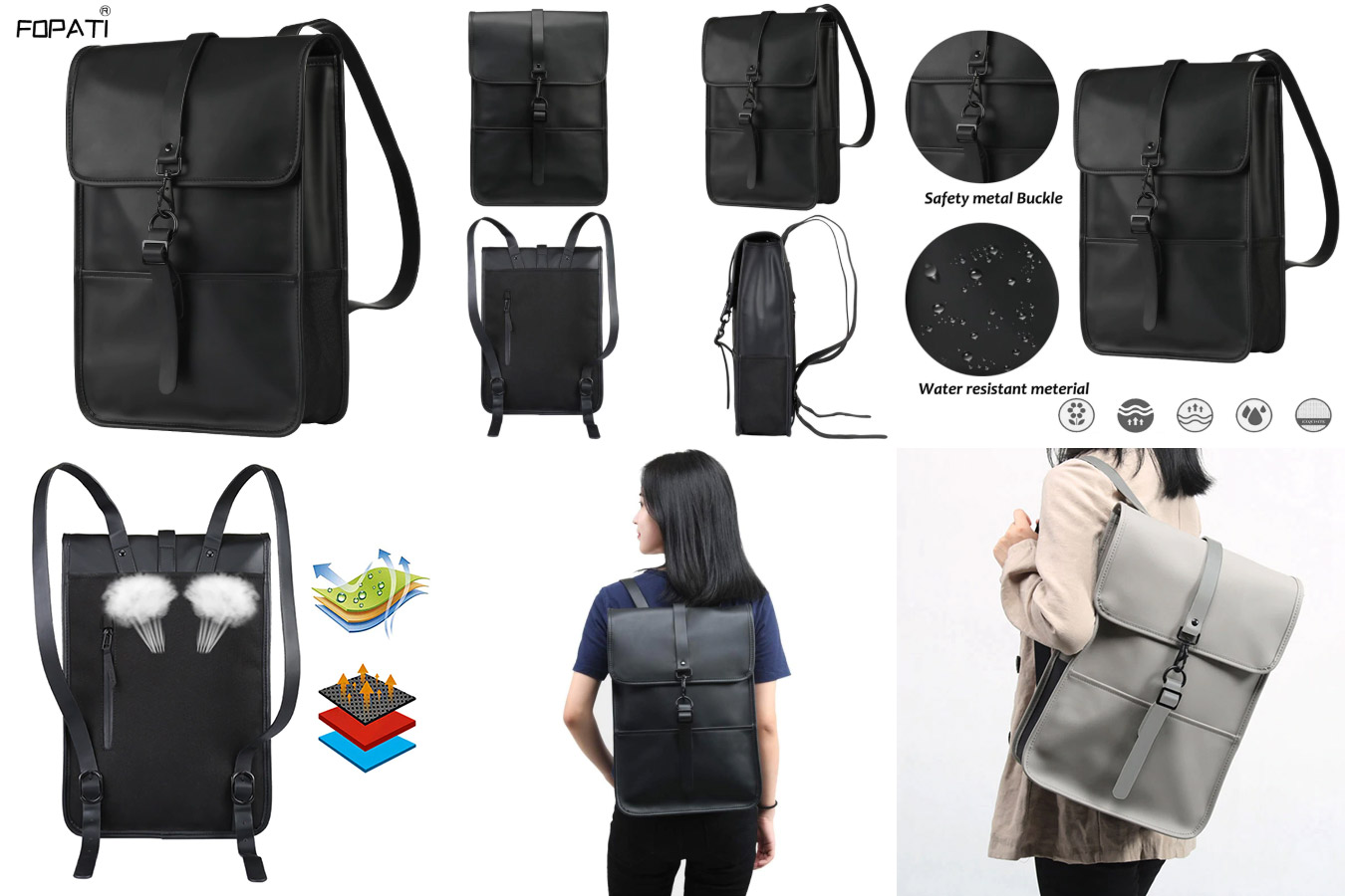 Строгая водонепроницаемая сумка-рюкзак