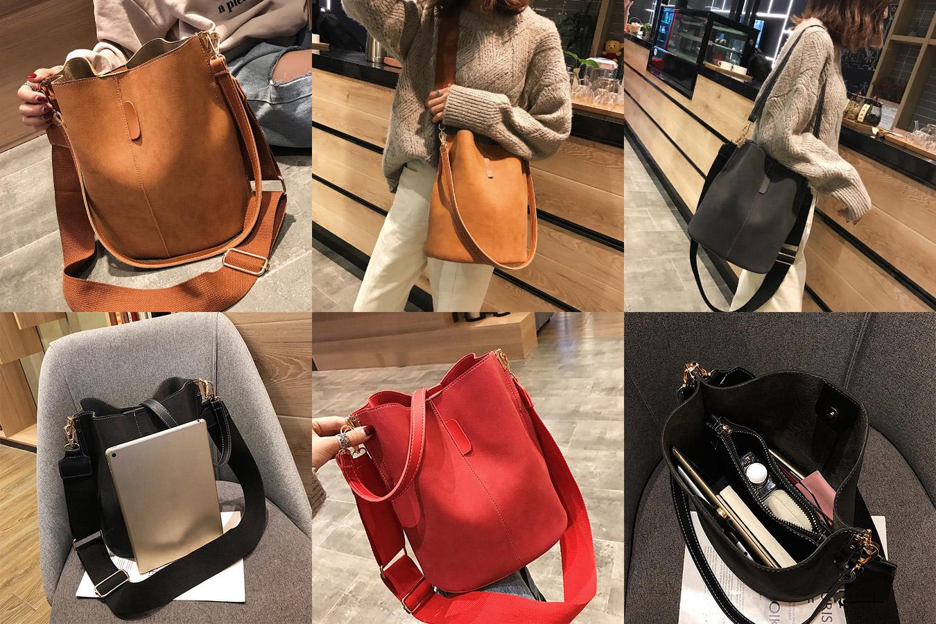 Винтажная сумка-мессенджер с удобным ремнем