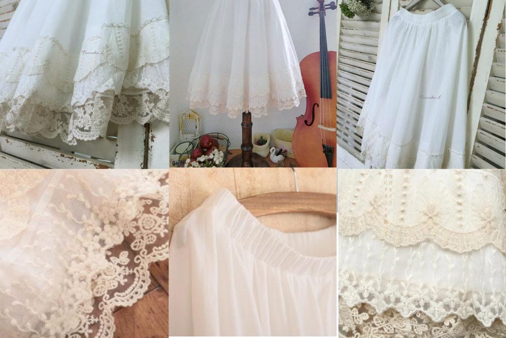 Белая хлопковая юбка принцессы