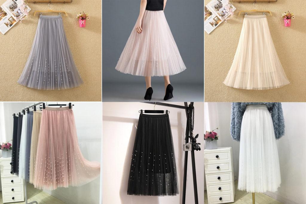 Шифоновая плиссированная юбка на алиэкспресс