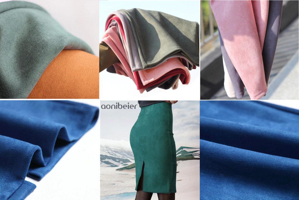 Замшевая юбка с разрезом на али