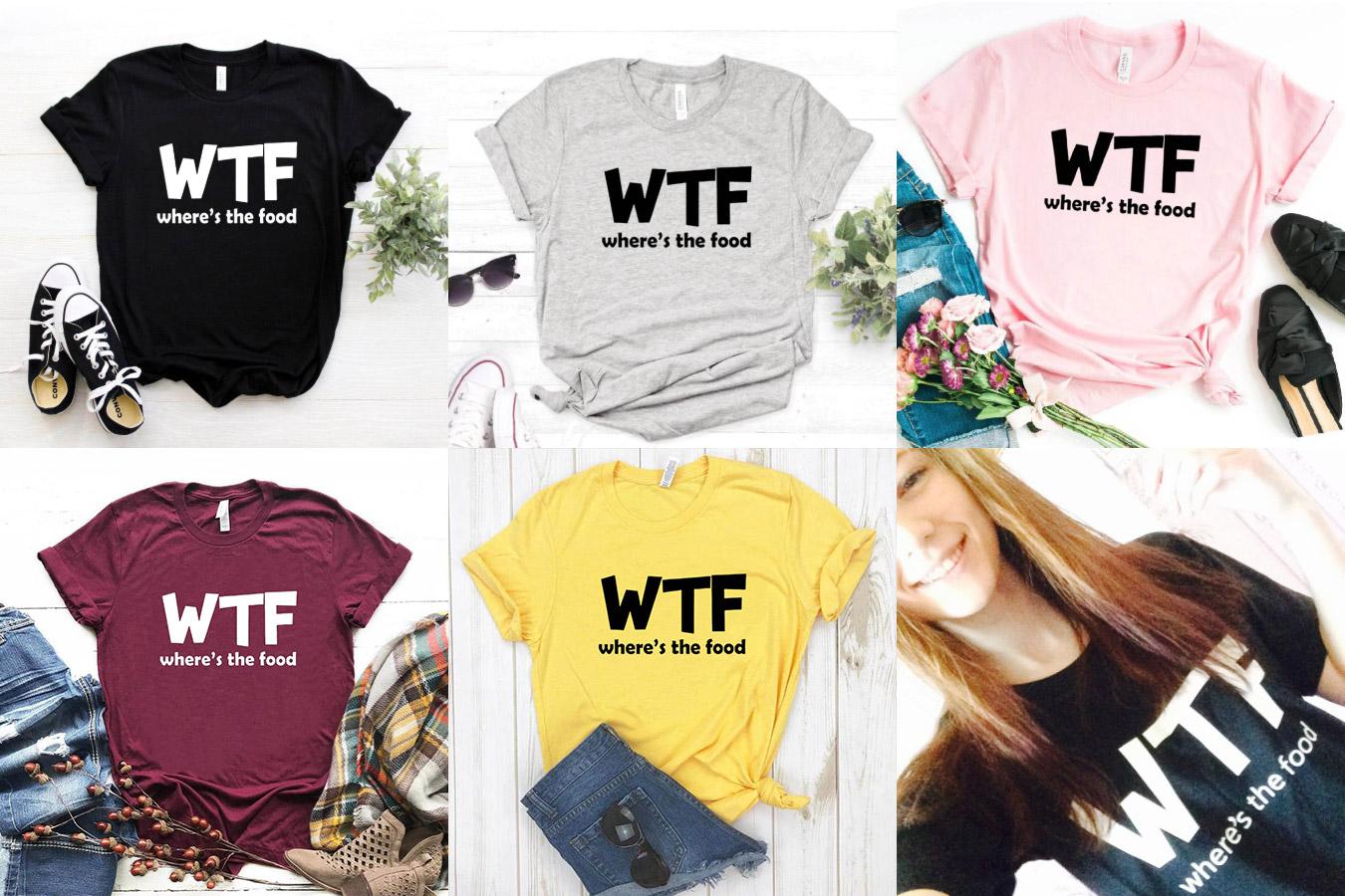 Женская футболка с принтом WTF