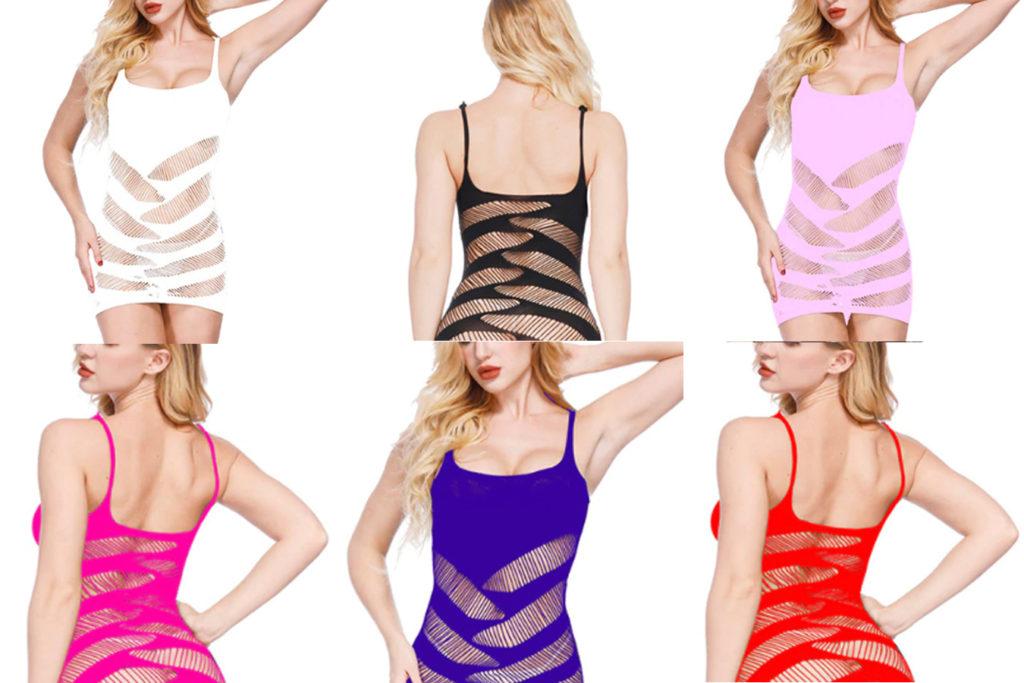 Эротичное белье ночная рубашка один размер прозрачные вставки