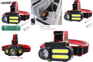 Дешевый налобный фонарик