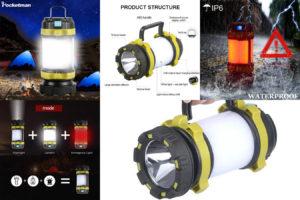 Яркий фонарик для рыбалки