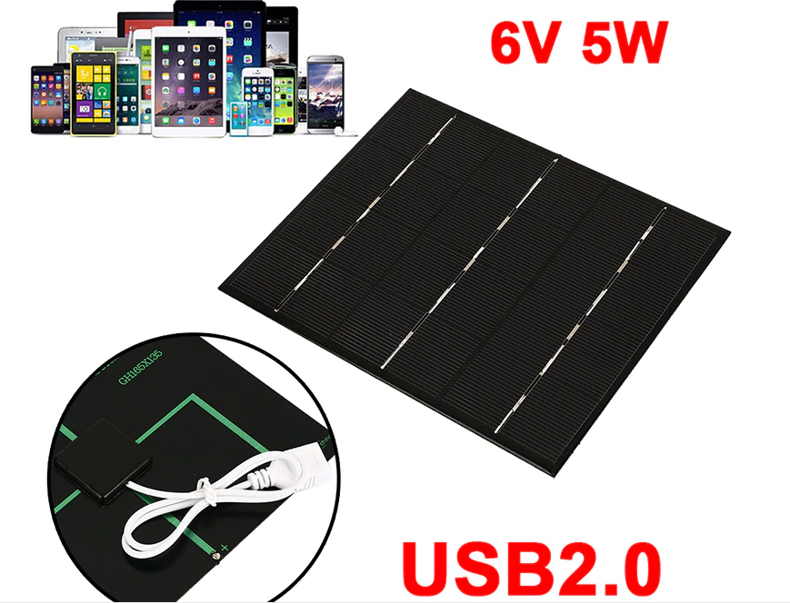 Cewaal USB Solar Panel