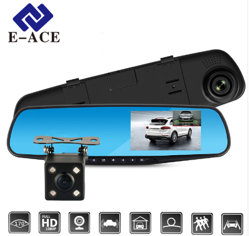 E-ACE Full HD Car Dvr Camera Auto 4.3